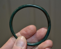 "A large, superb and wearable Early Ancient Celtic ""Halstatt Culture"" bronze decorated bangle SOLD"